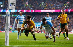 Adam Ashley-Cooper scored a hat trick of tries