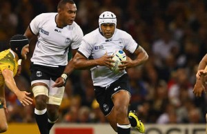 Akapusi Qera on the attack for Fiji against Australia