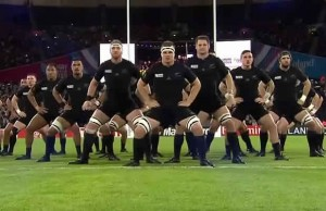 All Blacks haka at the Olympic Stadium