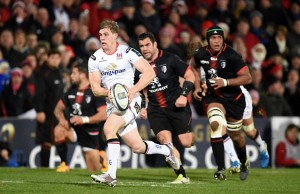 Andrew Trimble breaks through for Ulster against Toulouse
