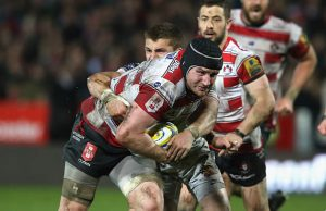 Ben Morgan attacks for Gloucester