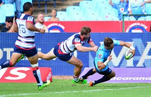 Bjorn Basson scored a hat trick of tries