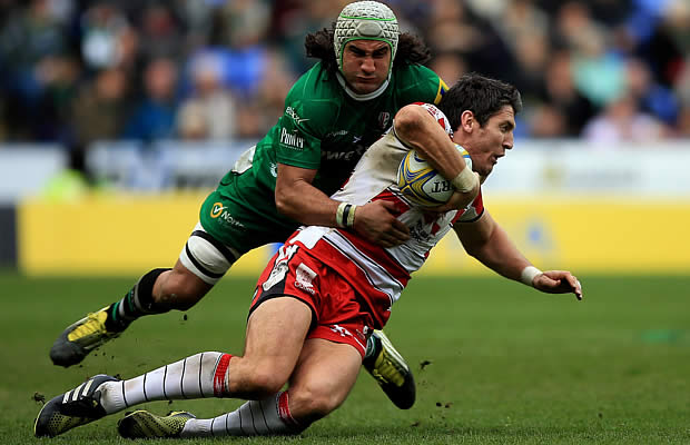 Blair Cowan tackles James Hook