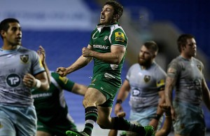 Brendon McKibbin celebrates victory for London Irish