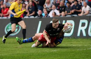 Chris Ashton scored three tries for Saracens