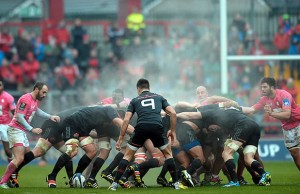 Conor Murray waits for the ball to come out of the scrum