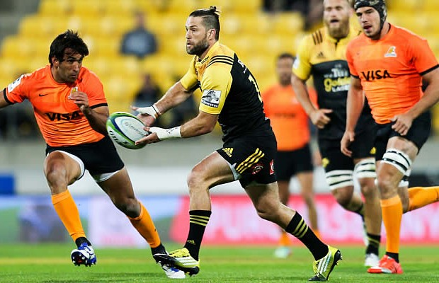 Cory Jane won his 100th Super Rugby cap in the match