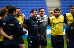 Dan Carter at Racing captains practice