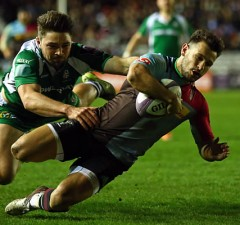 Danny Care scored a hat trick of tries