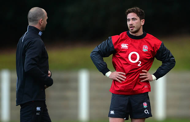 Make Catt and Danny Cipriani at training