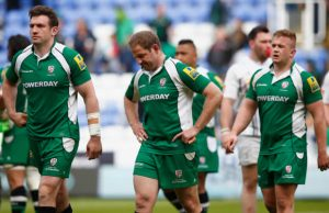 David Paice of Irish looks dejected as he leaves the field