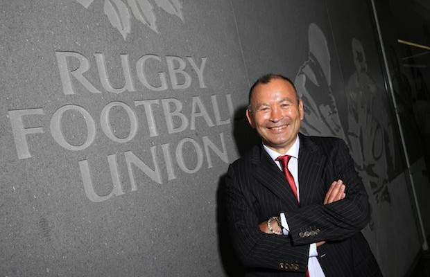 Eddie Jones, the new England Rugby head coach, poses