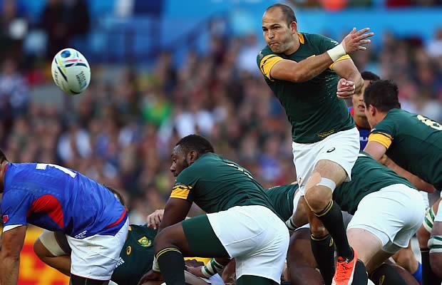 Fourie du Preez has been named Springbok captain