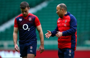 Eddie Jones talks to George Ford