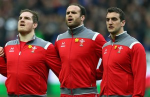 Gethin Jenkins, Jamie Roberts and Sam Warburton line up for Wales