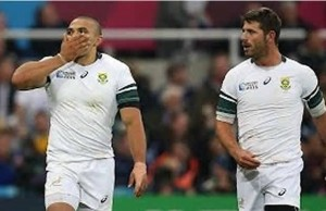 Bryan Habana walks off the field