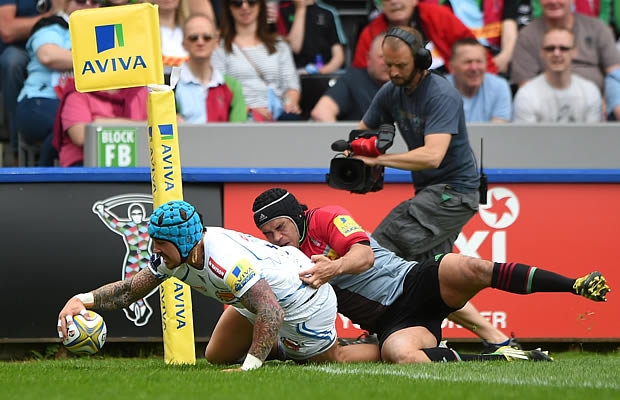 Jack Nowell scores for Exeter Chiefs