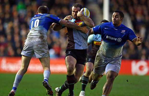 Jamie Roberts on the burst for Harlequins
