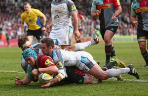 Joe Gray scores for Harlequins