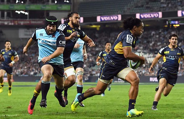 Joe Tomane scored three tries for the Brumbies