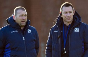 Scotland assistant coaches Jonathan Humphreys and Matt Taylor