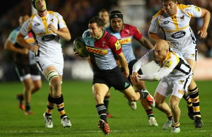 Karl Dickson on the charge for Harlequins