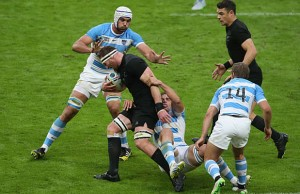 Kieran Read on the charge for New Zealand