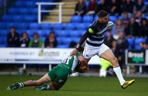 Matt Banahan on the burst for Bath against London Irish