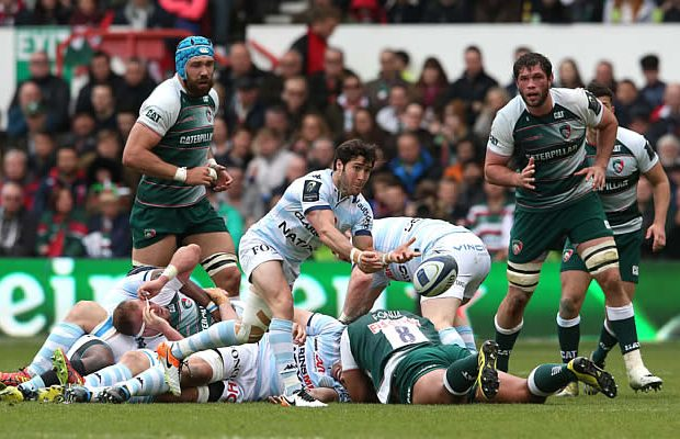 Maxime Machenaud scored a try for Racing