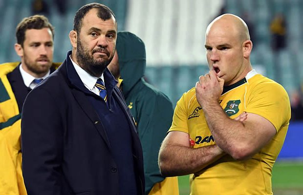 Wallabies coach Michael Cheika is not happy