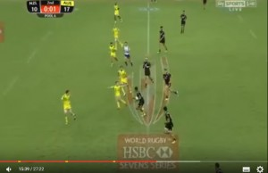 The NZ Sevens team appeared to use 8 players in the match
