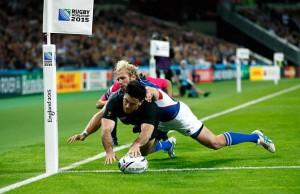 Man of the match Nehe Milner-Skudder scored two tries against Namibia