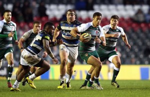 Peter Betham breaks away for Leicester Tigers