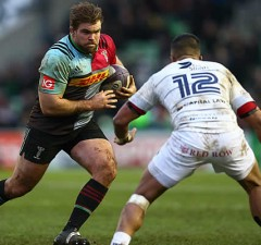 Rob Buchanan on the charge for Harlequins