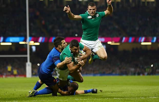 Rob Kearney scored Ireland's opening try
