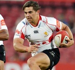 Rohan Janse van Rensburg on the charge for the Lions