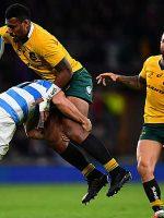 Australia hold off Argentina at Twickenham