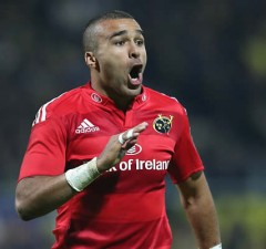 Simon Zebo scored Munster's bonus point try