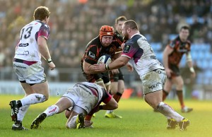 Thomas Waldrom scored two tries for Exeter Chiefs