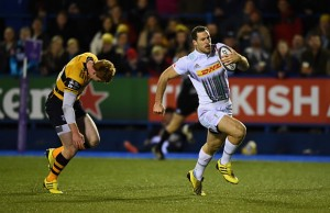 Tim Visser makes a break to score Harlequins opening try