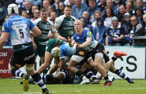 Will Homer passes the ball out for Bath