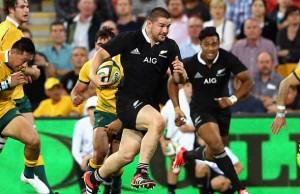 Dane Coles on the charge for the All Blacks in 2015