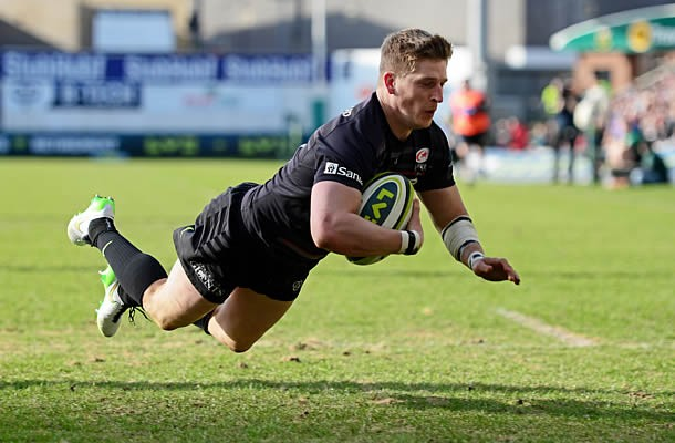 David Strettle scored two tries in the LV Cup final