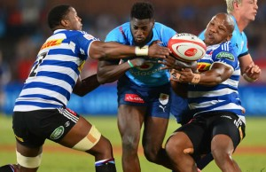 Jamba Ulengo scored a try for the Blue Bulls