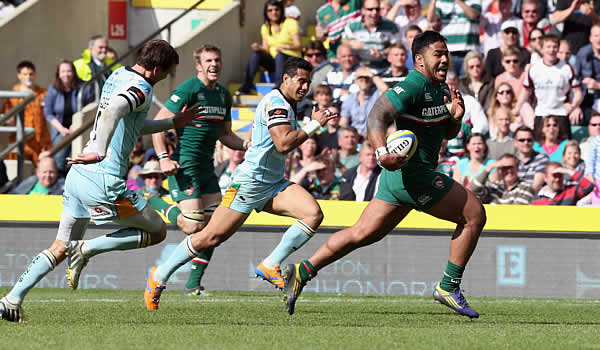 Manu Tuilagi gets into space for Leicester Tigers