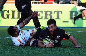 Nick de Jager scored a try for Saracens