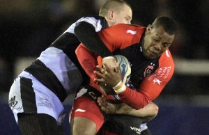 Steffon Armitage protects the ball for Toulon