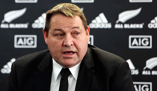 All Blacks head coach Steve Hansen