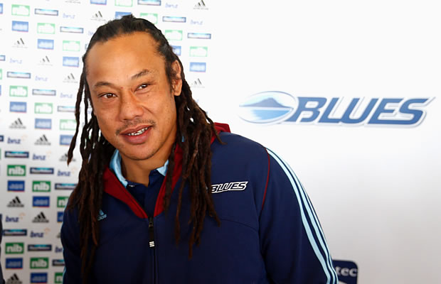 Blues and head coach Tana Umaga