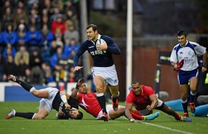 Tim Visser has been recalled to the Scotland starting line up